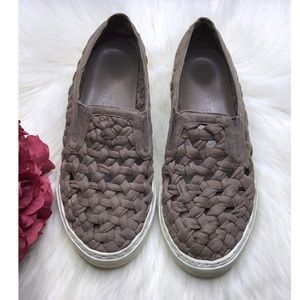 1. State chunky woven slip ons